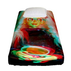 Eating Lunch 3d Fitted Sheet (single Size) by snowwhitegirl