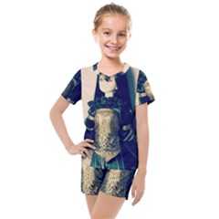 Forest Queen Kids  Mesh Tee And Shorts Set