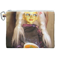 Eating Lunch Canvas Cosmetic Bag (xxl) by snowwhitegirl