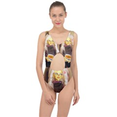 Eating Lunch Center Cut Out Swimsuit