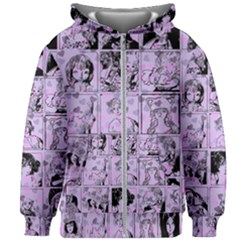 Lilac Yearbook 1 Kids Zipper Hoodie Without Drawstring by snowwhitegirl