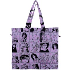 Lilac Yearbook 2 Canvas Travel Bag by snowwhitegirl