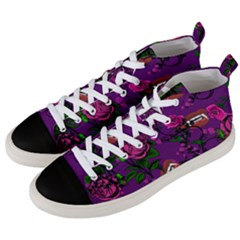 Purple  Rose Vampire Men s Mid Top Canvas Sneakers by snowwhitegirl