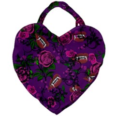 Purple  Rose Vampire Giant Heart Shaped Tote by snowwhitegirl