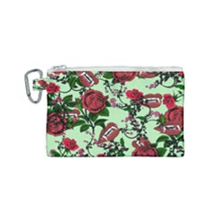 Green Rose Vampire Canvas Cosmetic Bag (small) by snowwhitegirl