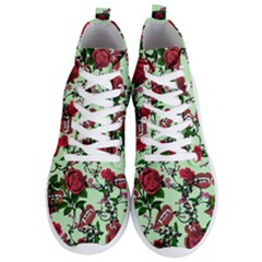 Green Rose Vampire Men s Lightweight High Top Sneakers