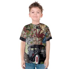 Steampunk Collage Kids  Cotton Tee by snowwhitegirl