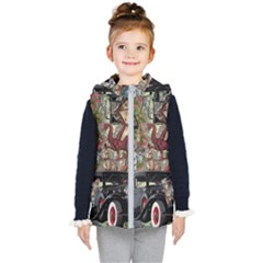 Steampunk Collage Kid s Hooded Puffer Vest by snowwhitegirl