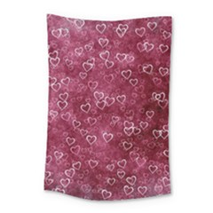 Heart Pattern Small Tapestry by snowwhitegirl