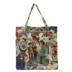 Angel Collage Grocery Tote Bag