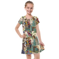 Angel Collage Kids  Cross Web Dress
