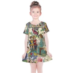 Angel Collage Kids  Simple Cotton Dress by snowwhitegirl