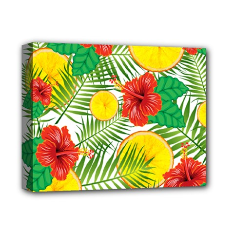 Orange Tropics Deluxe Canvas 14  X 11  by snowwhitegirl