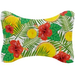 Orange Tropics Seat Head Rest Cushion by snowwhitegirl