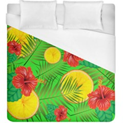 Orange Tropics Green Duvet Cover (king Size) by snowwhitegirl