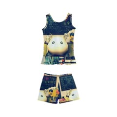 School Of Pets Kid s Boyleg Swimsuit
