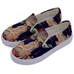 Happy Holidays Kids  Canvas Slip Ons by snowwhitegirl