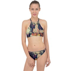 Happy Holidays Racer Front Bikini Set