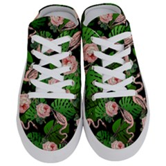 Flamingo Floral Black Half Slippers by snowwhitegirl
