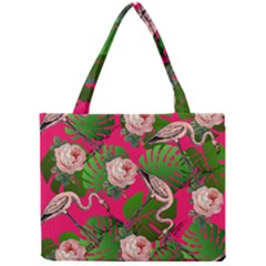 Flamingo Floral Pink Mini Tote Bag by snowwhitegirl