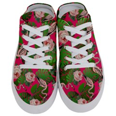 Flamingo Floral Pink Half Slippers by snowwhitegirl