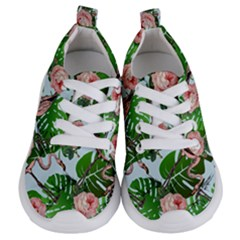 Flamingo Floral Blue Kids  Lightweight Sports Shoes