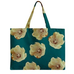 Teal Tulips Zipper Mini Tote Bag by snowwhitegirl