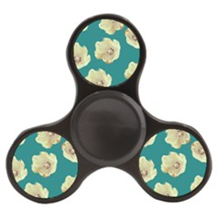 Teal Tulips Finger Spinner by snowwhitegirl
