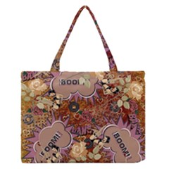 Pinup Floral Zipper Medium Tote Bag by snowwhitegirl