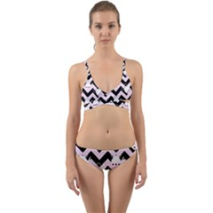 Pink Teapot Chevron Wrap Around Bikini Set by snowwhitegirl