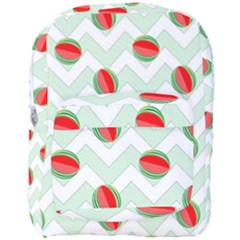 Watermelon Chevron Green Full Print Backpack