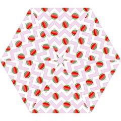 Watermelon Chevron Mini Folding Umbrellas