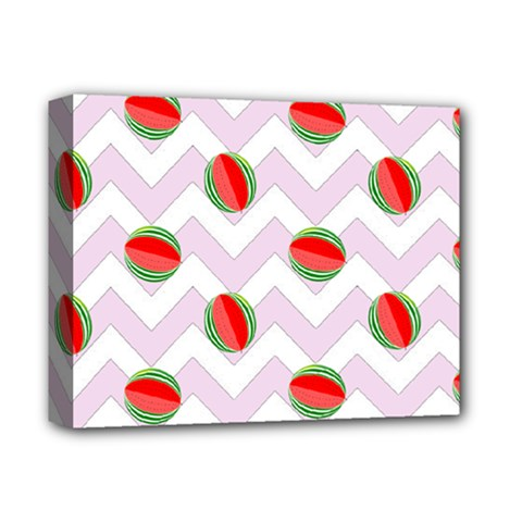 Watermelon Chevron Deluxe Canvas 14  x 11