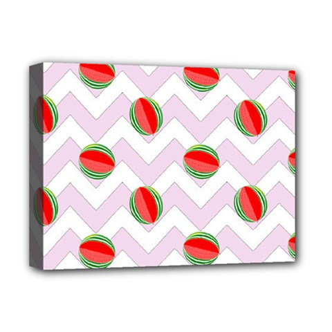 Watermelon Chevron Deluxe Canvas 16  x 12