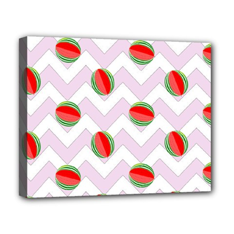 Watermelon Chevron Deluxe Canvas 20  x 16
