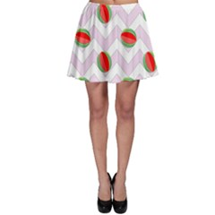 Watermelon Chevron Skater Skirt