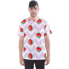 Watermelon Chevron Men s Sports Mesh Tee