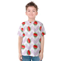 Watermelon Chevron Kids  Cotton Tee
