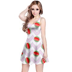 Watermelon Chevron Reversible Sleeveless Dress