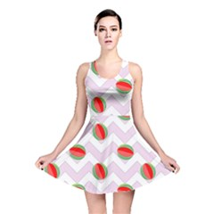Watermelon Chevron Reversible Skater Dress