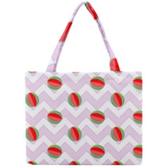 Watermelon Chevron Mini Tote Bag