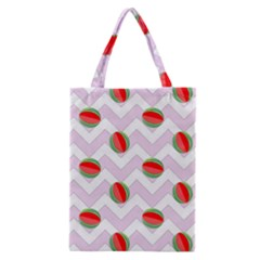 Watermelon Chevron Classic Tote Bag