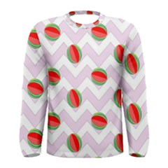 Watermelon Chevron Men s Long Sleeve Tee