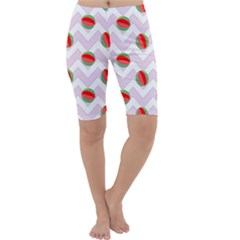 Watermelon Chevron Cropped Leggings