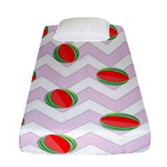 Watermelon Chevron Fitted Sheet (Single Size)