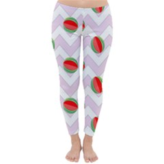Watermelon Chevron Classic Winter Leggings