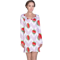 Watermelon Chevron Long Sleeve Nightdress
