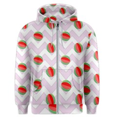Watermelon Chevron Men s Zipper Hoodie