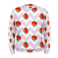 Watermelon Chevron Men s Sweatshirt