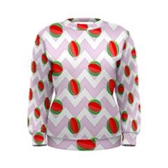 Watermelon Chevron Women s Sweatshirt